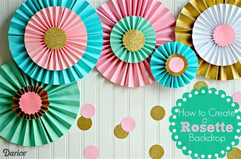 Rosettes Out Of Paper - how to make paper rosettes diy decorations the