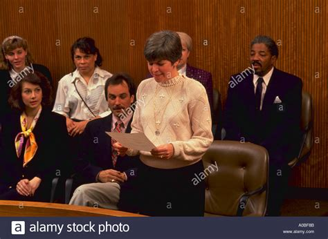 Maryland Jury Search Jury Foreman Read Verdict In Courtroom In Rockville Maryland Released Stock Photo