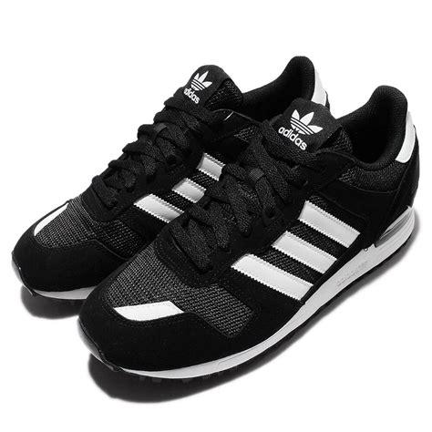 adidas originals zx  black white mens casual shoes