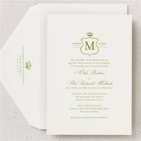 Wedding Invitation Card Royal by Prince William And Kate Middleton Royal Wedding