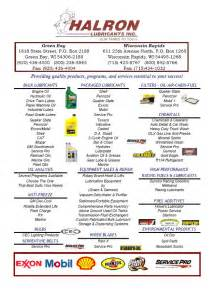 line card template halron lubricants midwest lubricant distributor