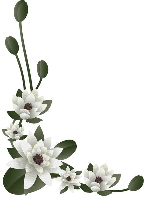 clipart png borda florais clipart png fundo transparente imagens