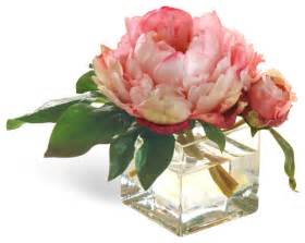 mini peony pink flower arrangement traditional