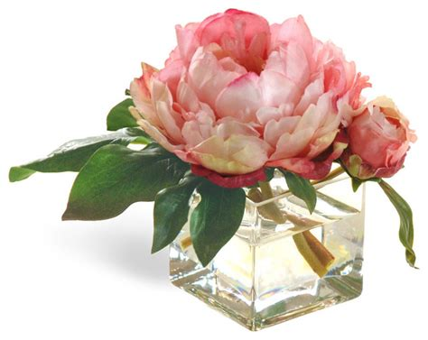 peony flower arrangement mini peony pink flower arrangement traditional