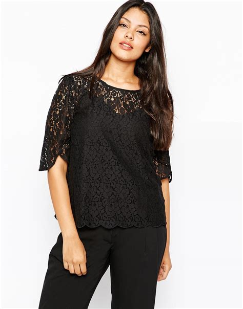 Blouse Jumbo Xl Fit Sorena Black Twistcone Big Size 6xl black lace t shirt plus size summer tunic 5xl large big size clothing tops