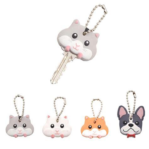 cute key pattern cartoon animal pattern keys cover cute mouse bulldog pvc