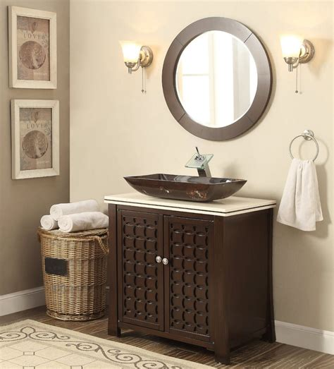 30 bathroom vanity with sink 30 quot vessel sink giovanni bathroom vanity mirror hf339a