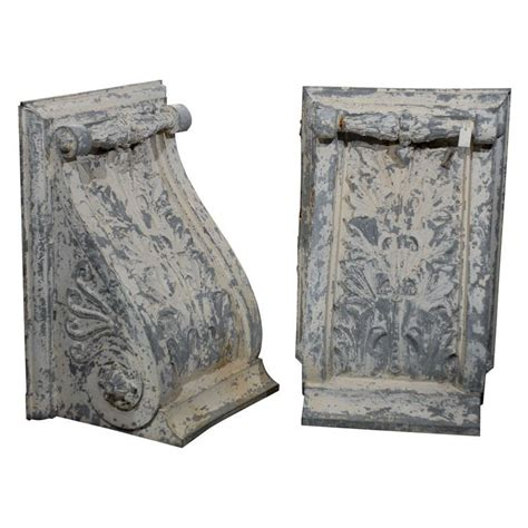 Large Corbels For Sale Pair Of Large Size Turn Of The Century Zinc Decorative