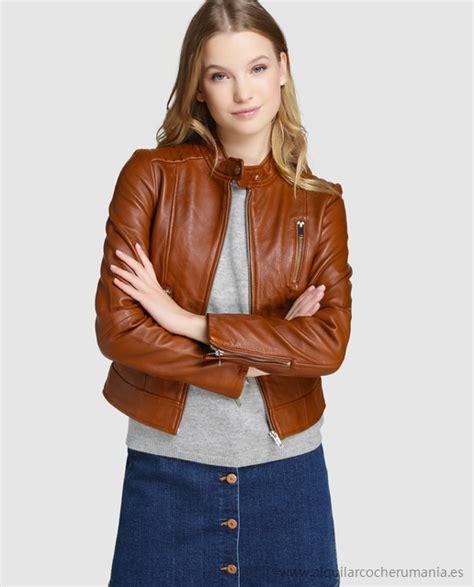 cazadora cuero chica cazadora piel chica chaquetas de moda para la temporada 2018