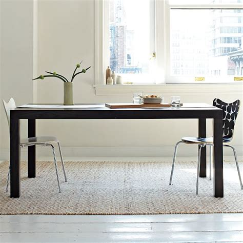 west elm dining room table parsons expandable dining table west elm