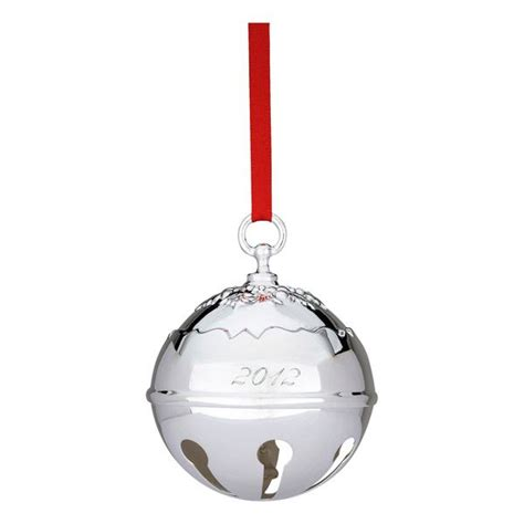 2012 reed and barton holly bell silver christmas ornament