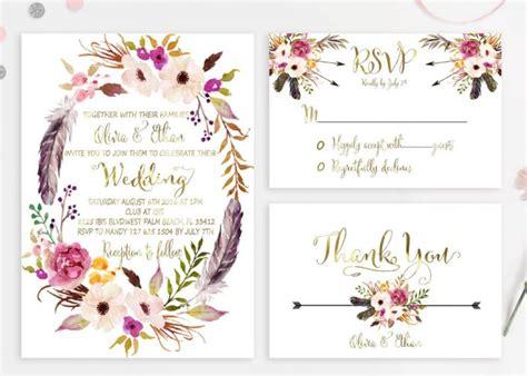 Boho Wedding Invitations