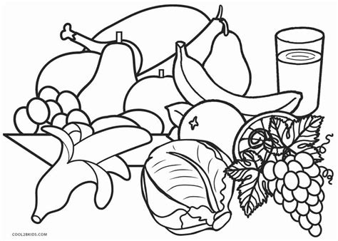 healthy food coloring pages pictures to pin on pinterest