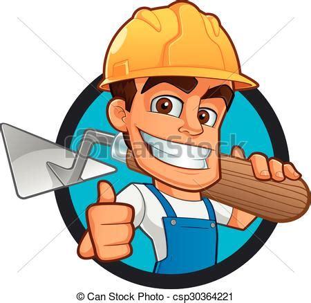 clipart muratore simpatico muratore porta casco vestito vestiti lavoro