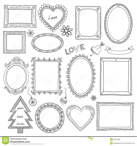 how to create doodle frames set of doodle frames and elements royalty free stock photo