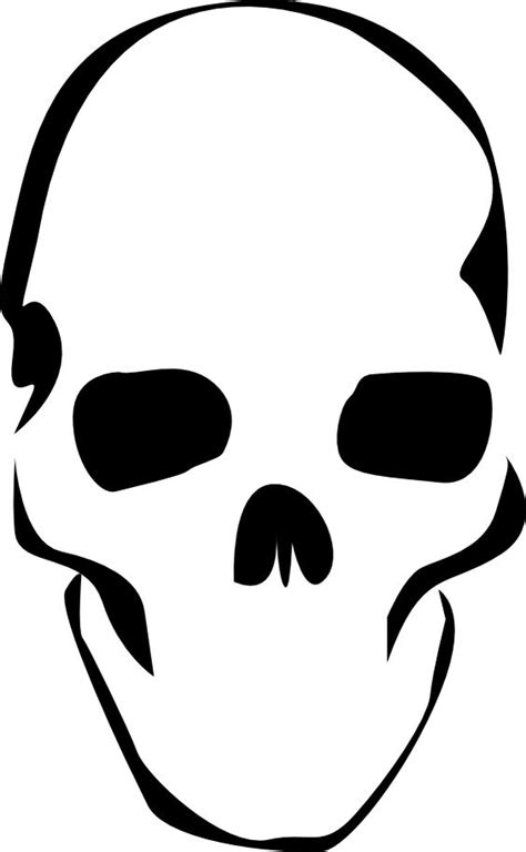 Simple A3 Printable Skull Stencil Stencil Art Skull Cut Out Template