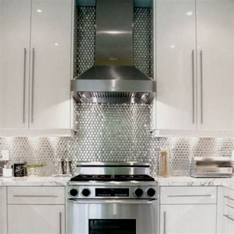 metallic kitchen backsplash 26 best images about metal backsplash on kitchen backsplash stove and backsplash tile
