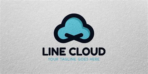 cloud template with lines line cloud logo template codester