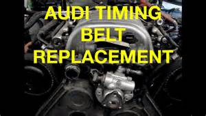 how to replace a audi a6 3 0l timing belt