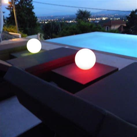 le boule led boule lumineuse led sans fil patio 20 cm deco lumineuse