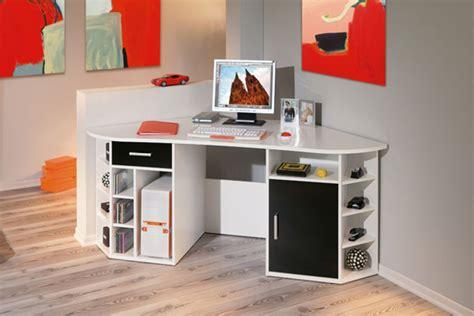 bureau angle enfant bureau d angle fabri blanc noir
