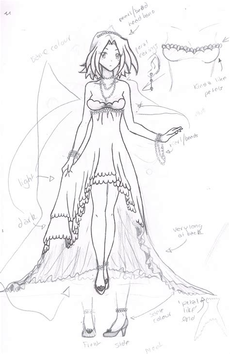 Anime Dress Pencil And In Color Anime Dress