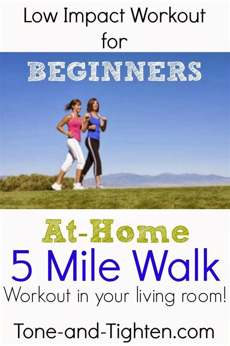 low impact beginner workout 5 mile walk at home workout