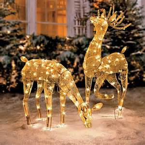 outdoor lighted reindeer decoration outdoor decorations