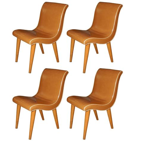 set of four wright dining chairs for sale at 1stdibs