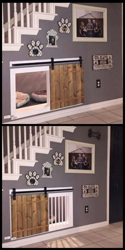 awesome dog house ideas awesome dog kennel under the stairs design idea if you