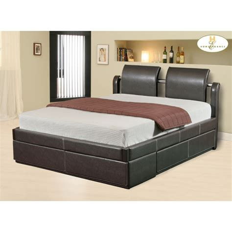 bed designs platform bed with drawers plans design ideas