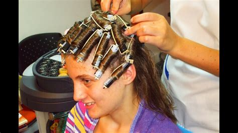 culture men using curlers for perm teenager getting a rollers perm and a short haircut youtube