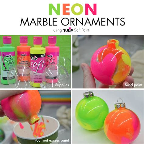 neon christmas decorations neon marble ornaments diy ornaments you can make ornaments neon and