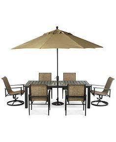macys patio dining sets buy sorrento 6 seater patio furniture set with parasol