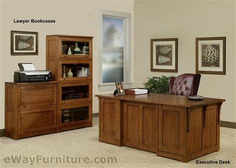 100 solid oak wood mission home office executive desk