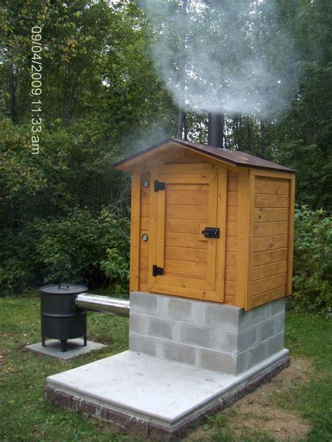 diy backyard smoker smokehouse building plans find house plans cing