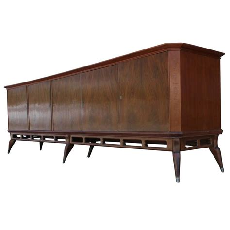 large modern argentinian mahogany sideboard credenza with