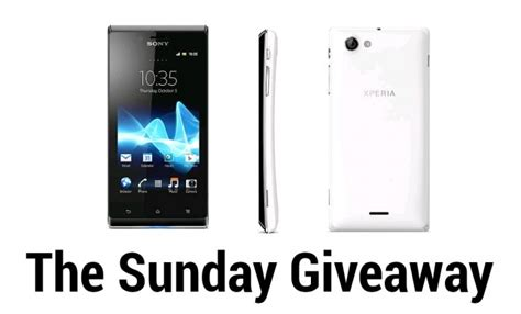 Sunday Giveaway - welcome to the sunday giveaway this week sony xperia j android news android apps