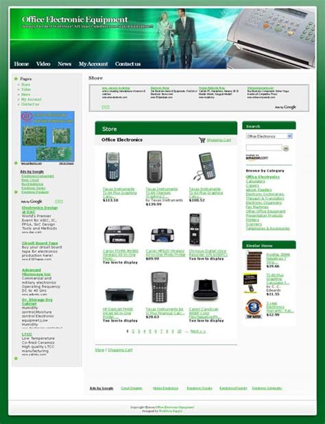 office electronic equipment  business website
