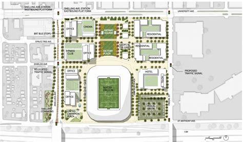 Bowling Alley Floor Plans by Minnesota United Unveils St Paul Mls Stadium Renderings