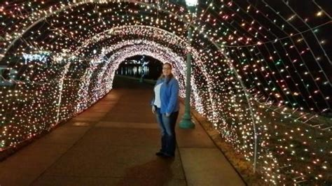 christmas lights picture of mcgregor park riverwalk