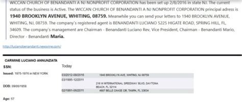 Hells Criminal Record Carmine Annunziata Aka Luciano Benandanti This Ain T Hell But You Can See It From Here