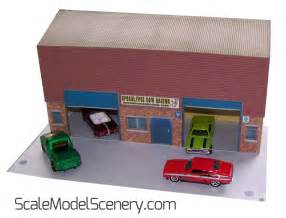 1:64 Garage / Custom Shop For HotWheels etc   Scale Model