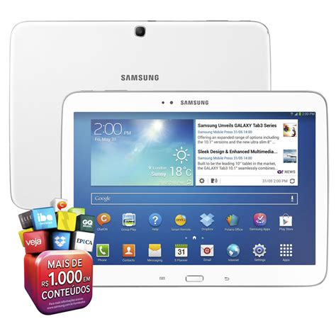 Tablet Apple 1 3g tablet samsung galaxy tab 3 3g gt p5200 tela 10 1