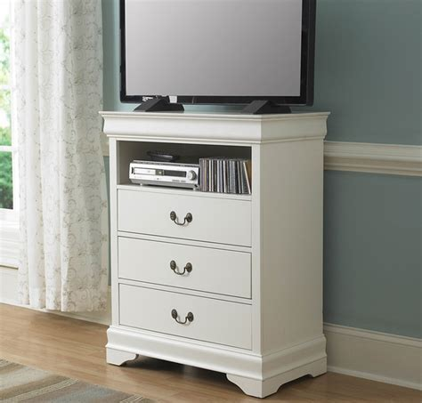 32 Inch Chest Of Drawers Homelegance Marianne 32 Inch Tv Chest In White