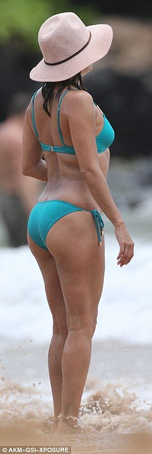eva sharpe actress eva longoria flaunts toned torso in jade bikini in hawaii