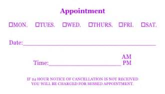 6 appointment card template cashier resume