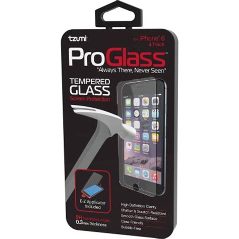 Tempered Glass Proscreen iphone 6 6s tzumi proglass premium hd tempered glass screen protector with easy applicator