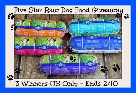 Dog Food Giveaway - five star raw dog food giveaway it s free at last