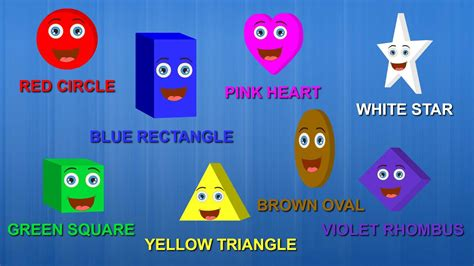 color songs for toddlers shapes colors song the shapes song learn shapes and